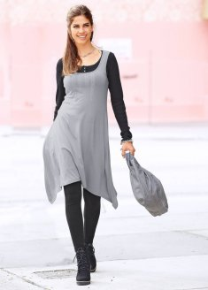 Самые удачные фасоны повседневных платьев для полных дам.