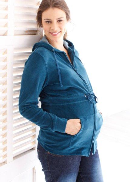 Le gilet de grossesse en velours ras