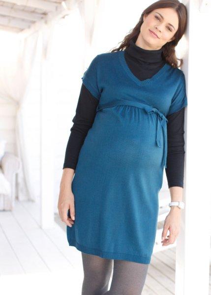 La robe de grossesse en maille