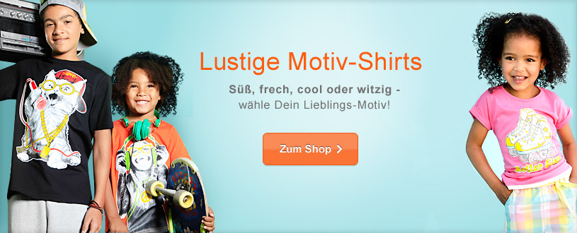 Printed Shirts mit lustigen Motiven für coole Kids.