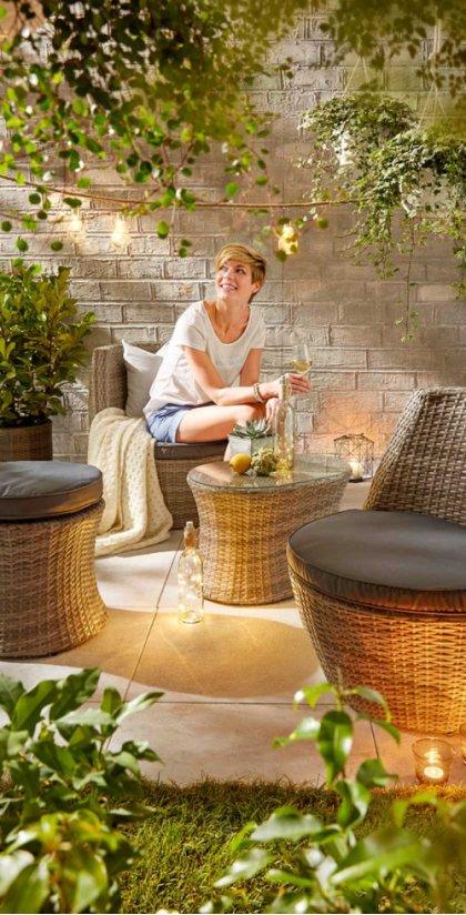 gartenm bel von liegestuhl bis lichterkette bonprix. Black Bedroom Furniture Sets. Home Design Ideas
