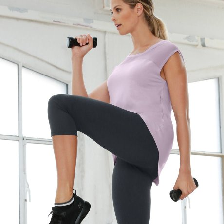 Stories - Sport-Leggings, 3/4-Länge, Level 2 - schwarz