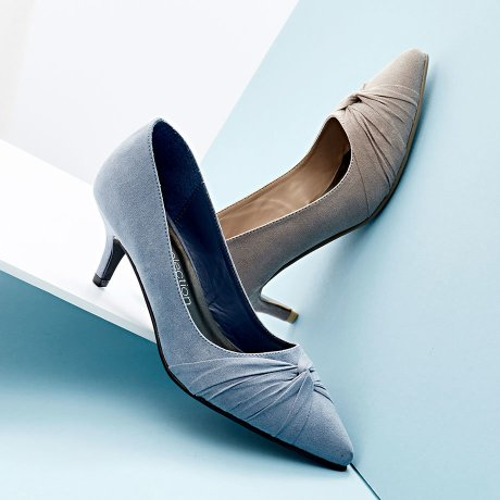 Damen - Pumps - blaugrau