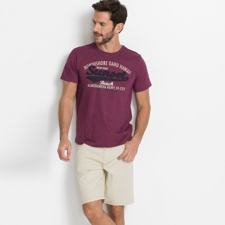Herren - Stretch-Bermuda, Classic Fit - natur
