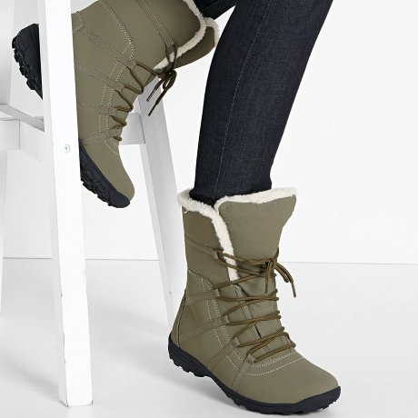 Damen - Winter Boot - khakigrün