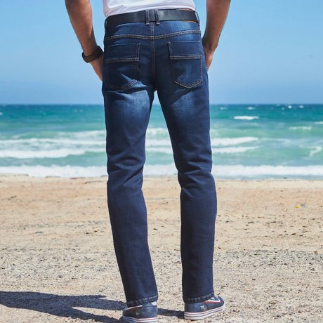 Errichtung_Heisenberg - Regular Fit Stretch-Jeans, Straight 2er-Pack - medium blue bleached+dark blue stone