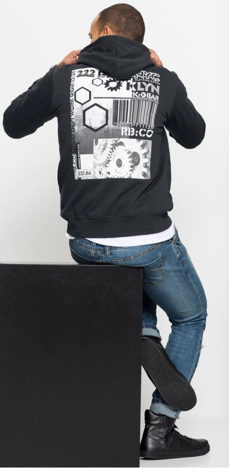 SEO-Landingpages - Sweatshirt mit Kapuze Slim Fit - schwarz de76234bcb