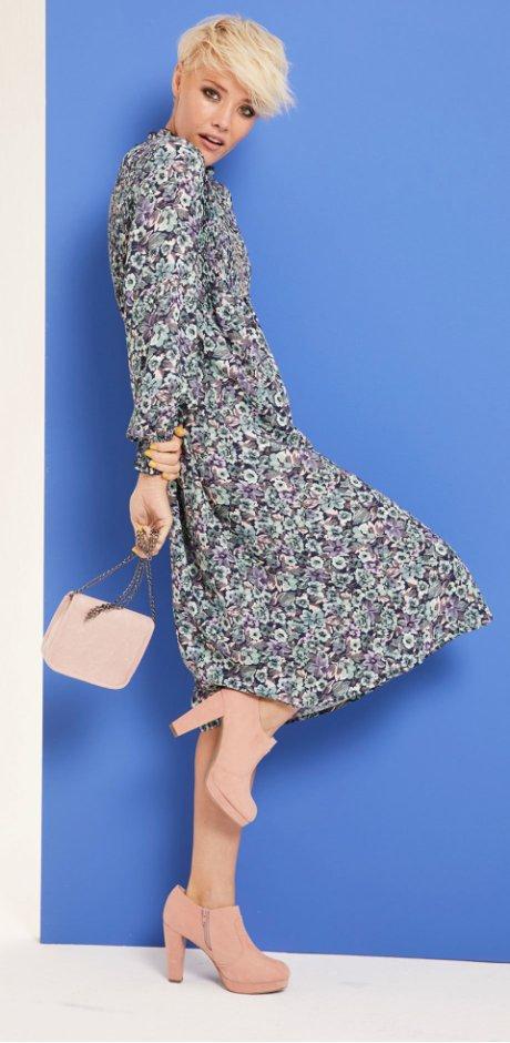 Damen - Midi-Kleid  MUST HAVE - dunkelblau geblümt. Rainbow b4f2e9cf98