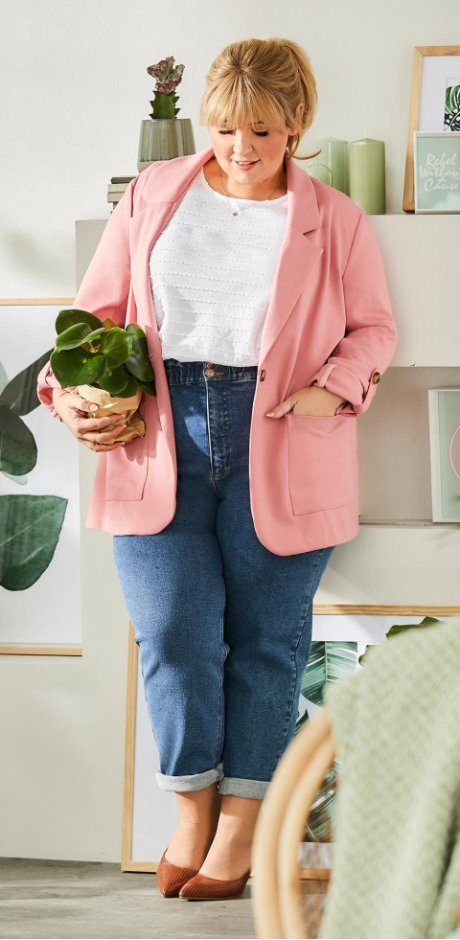 Damen - Maite Kelly Sweat- Longblazer - rauchrose
