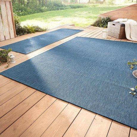 wohnen in und outdoor teppich madeira blau