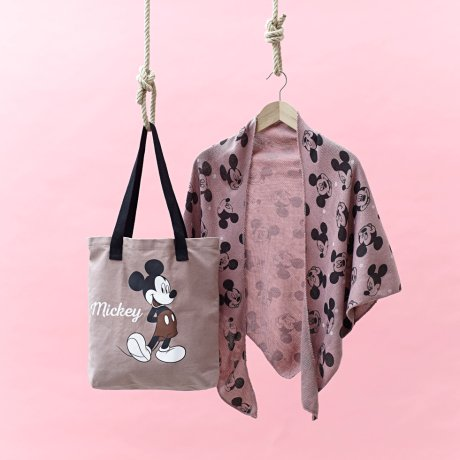 Damen - Mickey Mouse Shopper - altrosa