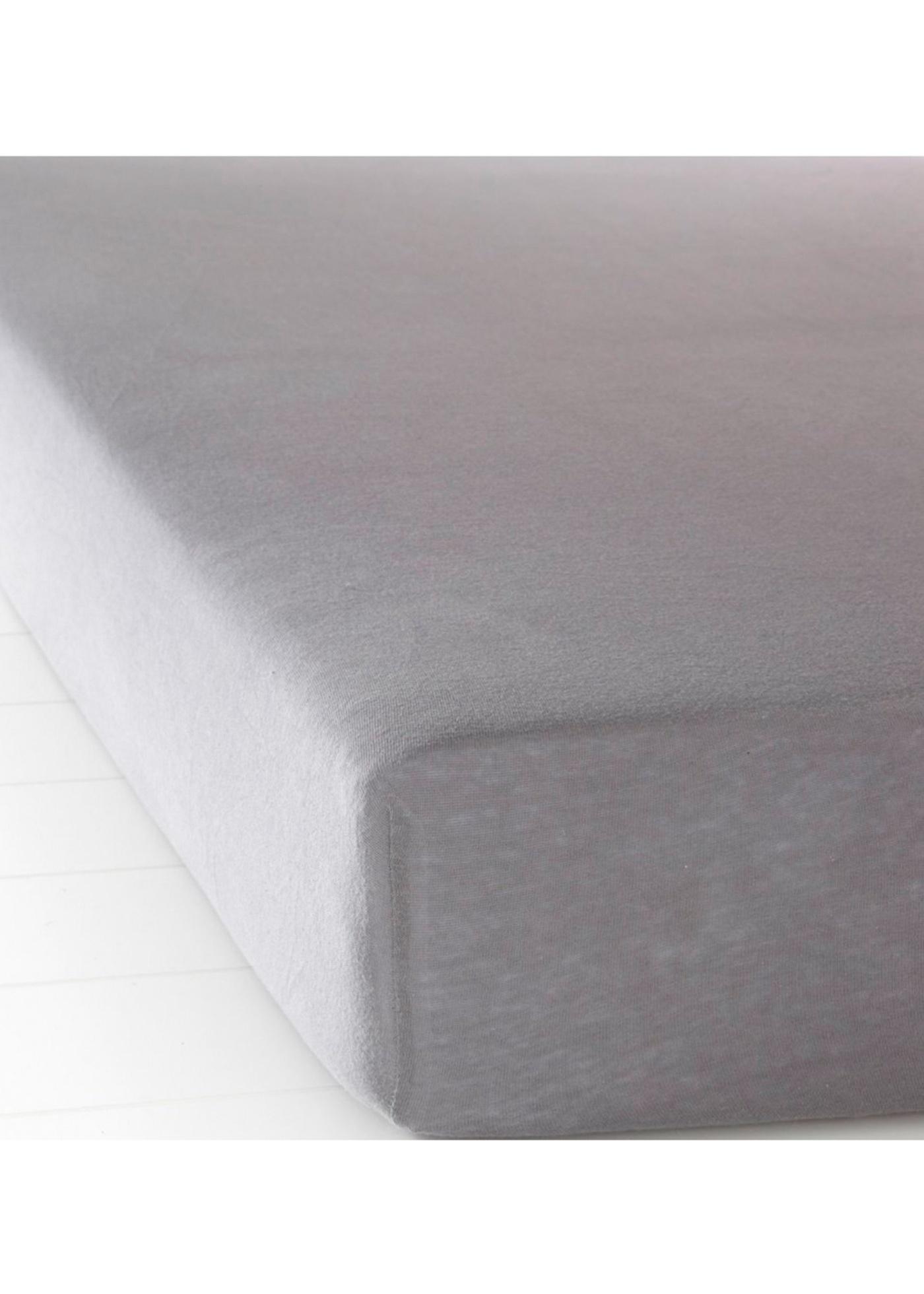 Jersey Spannbettlaken in grau von bonprix