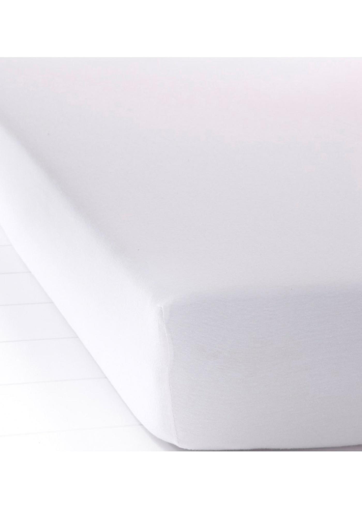Jersey Spannbettlaken in weiß von bonprix