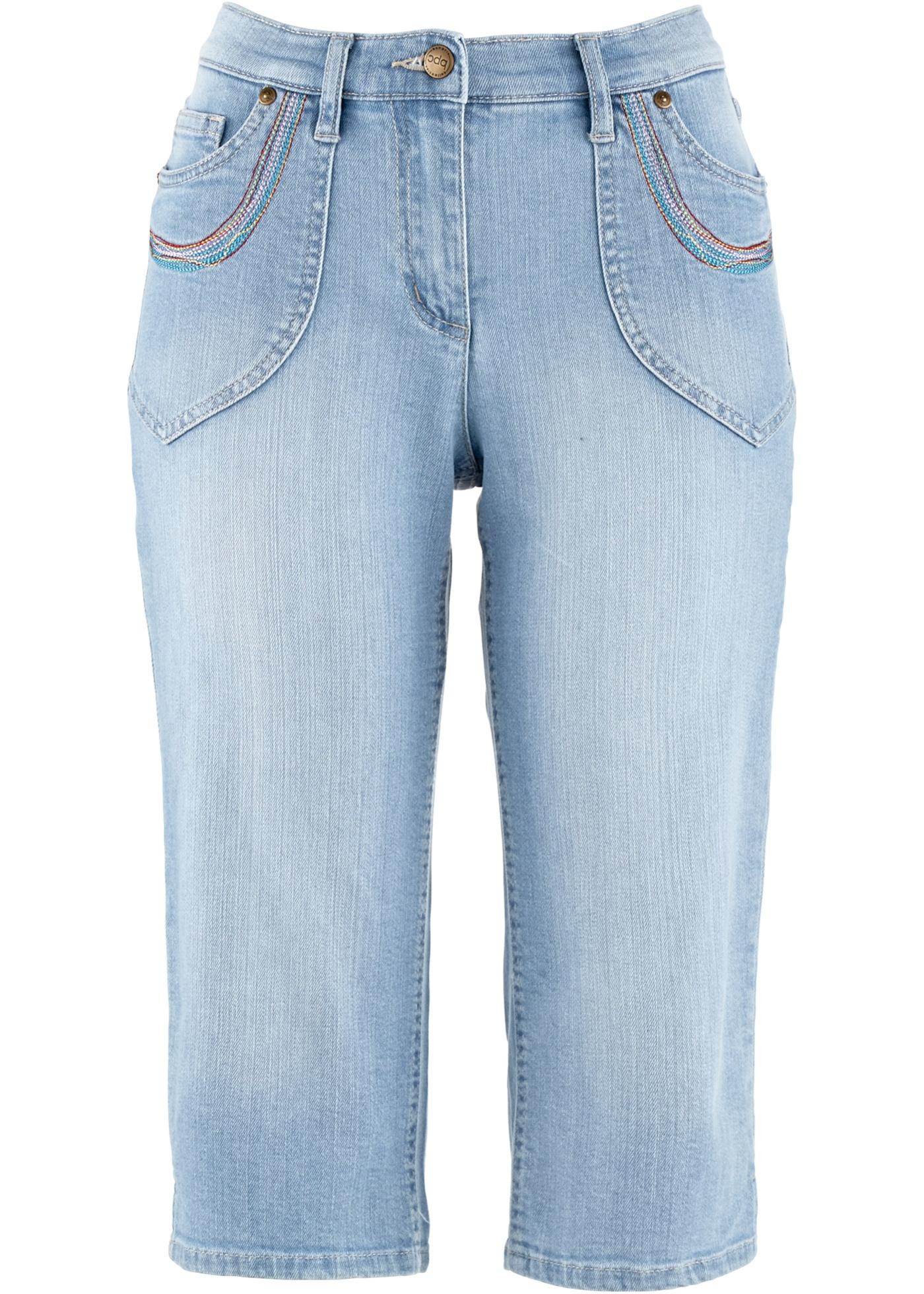 Hosen - Capri Stretch Jeans › bonprix › blau  - Onlineshop Bonprix