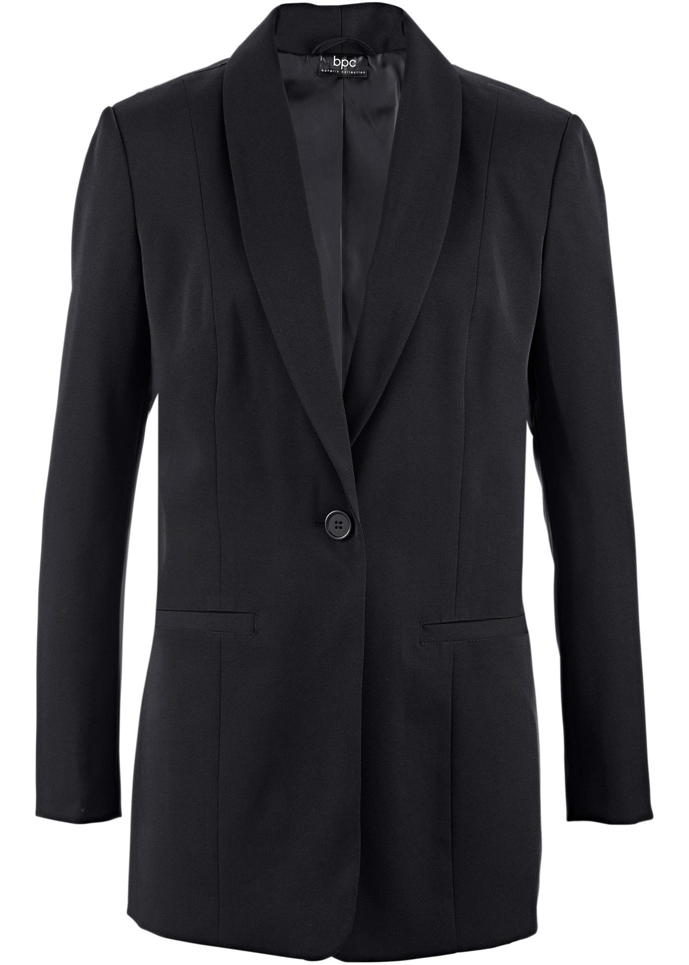 Long-Blazer langarm  in schwarz für Damen von bonprix