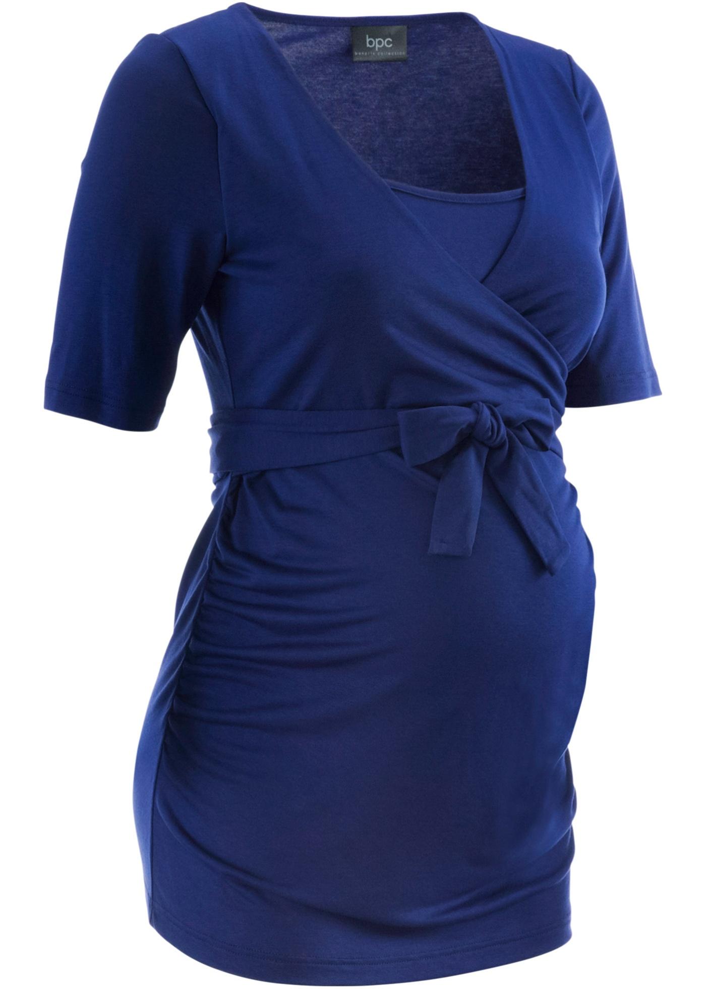 Umstandsshirt / Stillshirt halber Arm  in blau für Damen von bonprix