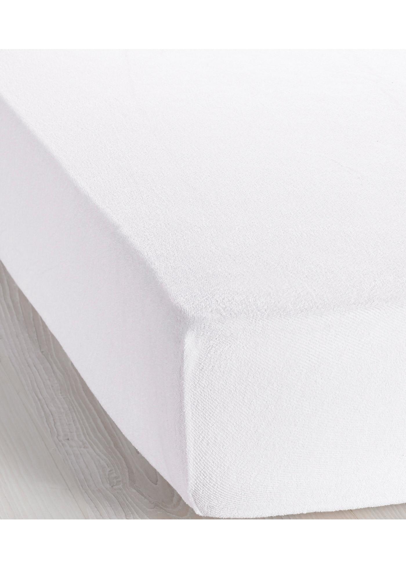 Frottee Spannbettlaken in weiß von bonprix