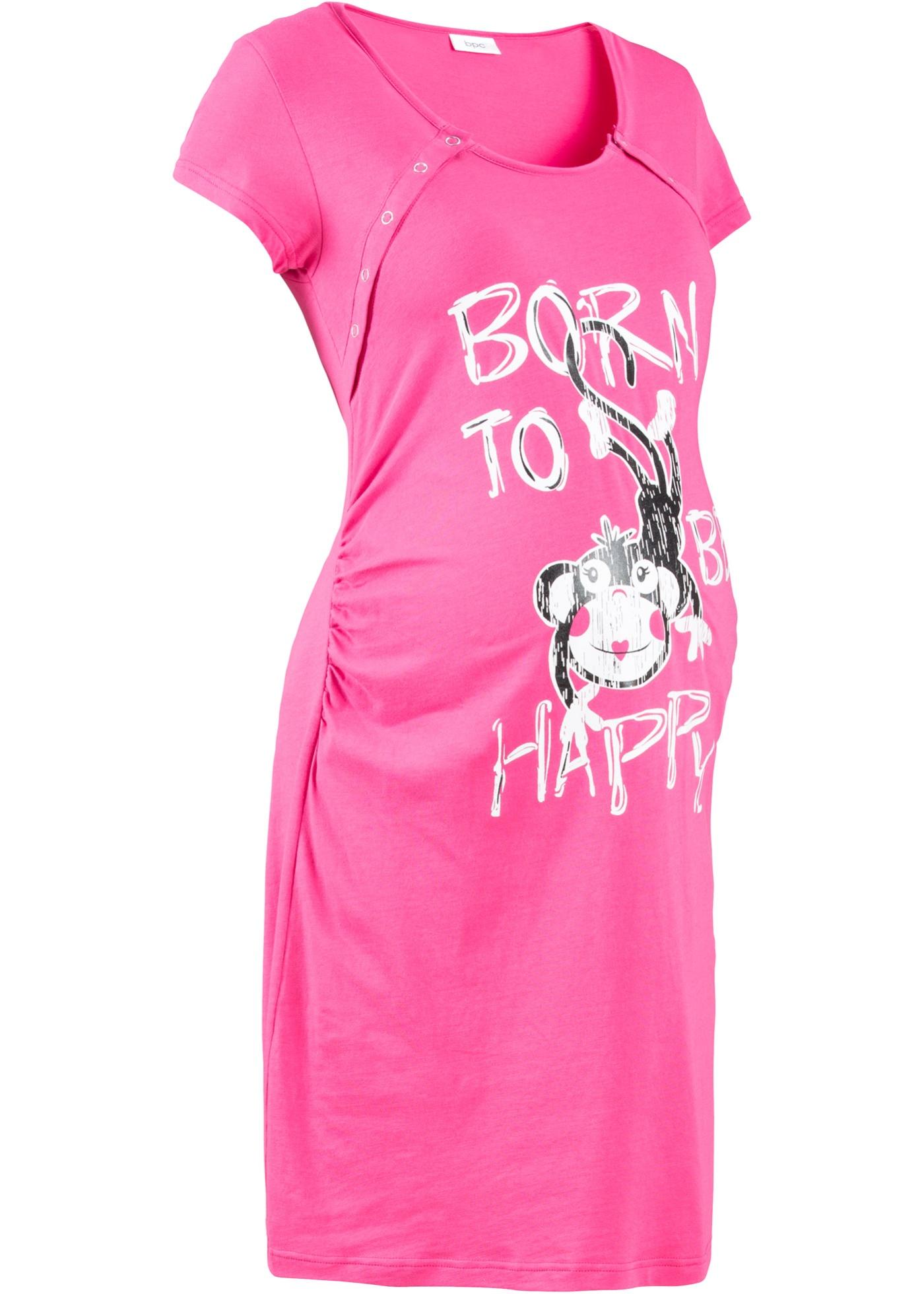 Schwangerschaftsmode - Still Nachthemd mit Bio Baumwolle › bonprix › pink  - Onlineshop Bonprix