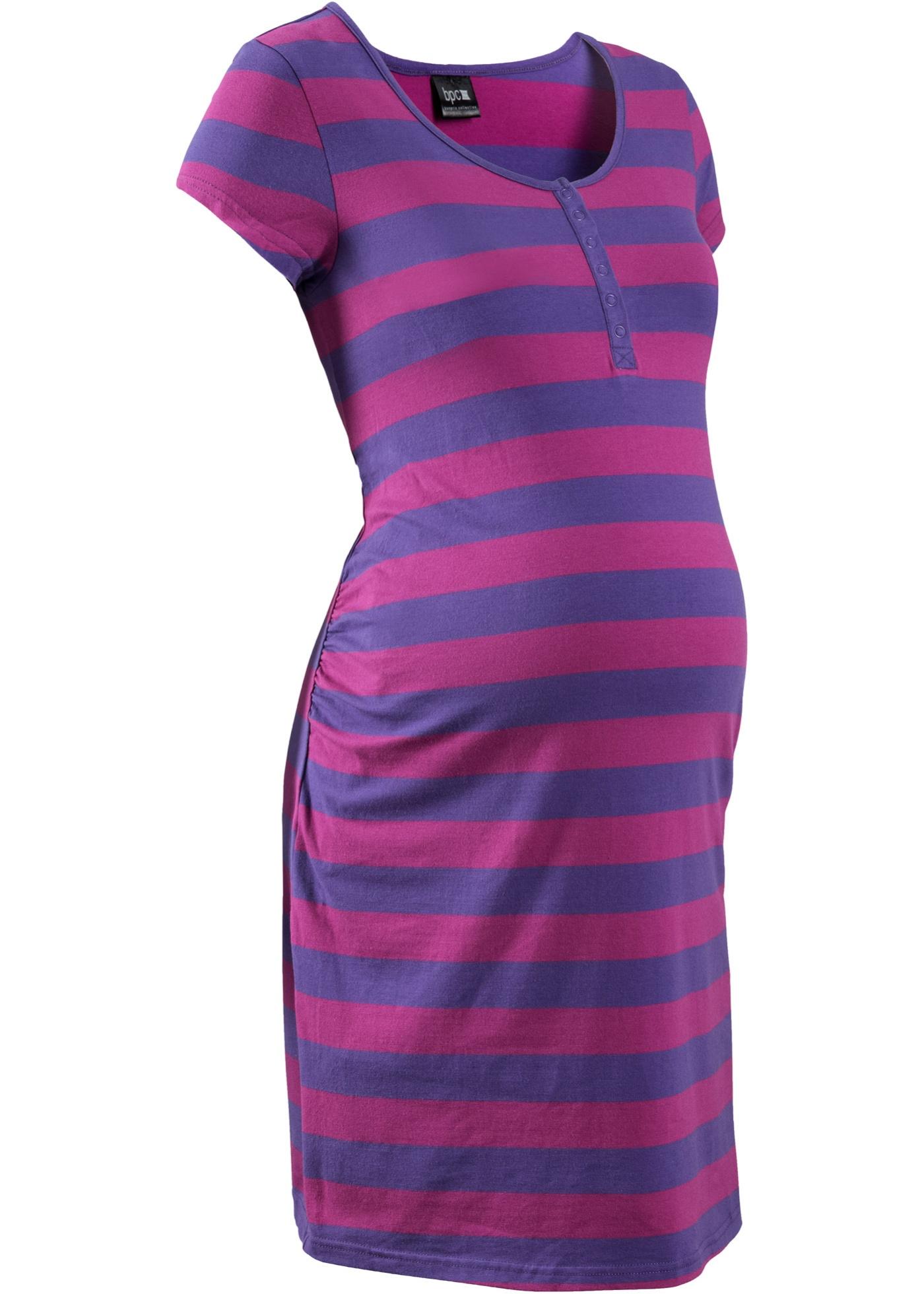 Schwangerschaftsmode - Still Nachthemd mit Bio Baumwolle › bonprix › lila  - Onlineshop Bonprix