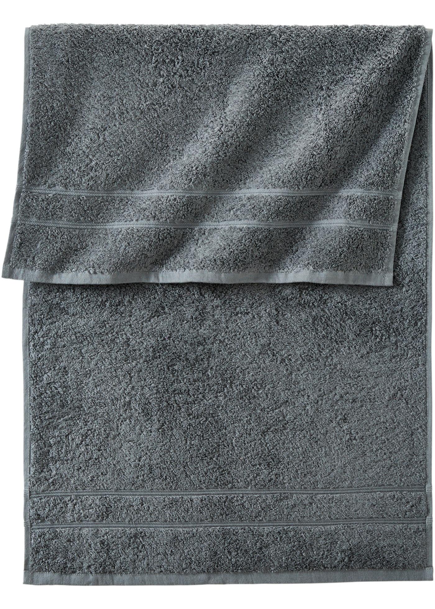 Handtuch in schwerer Qualität in grau von bonprix
