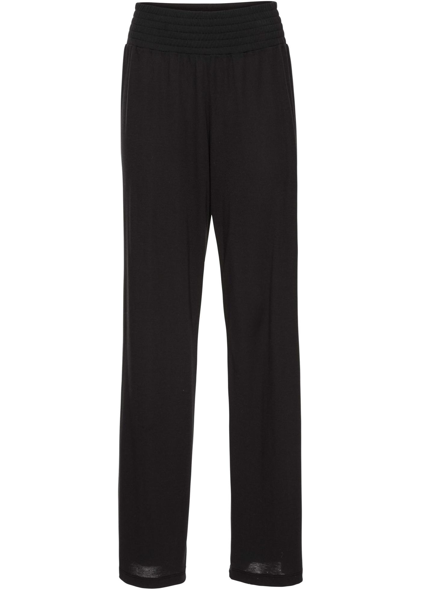 Palazzo-Hose aus Jersey in schwarz für Damen von bonprix