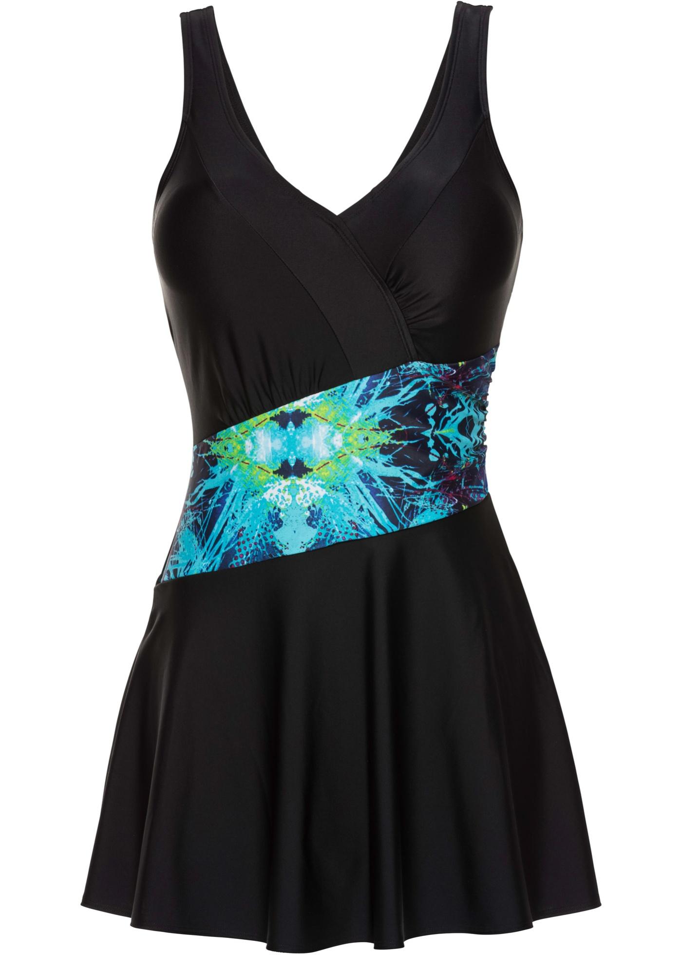 Badekleid in schwarz für Damen von bonprix