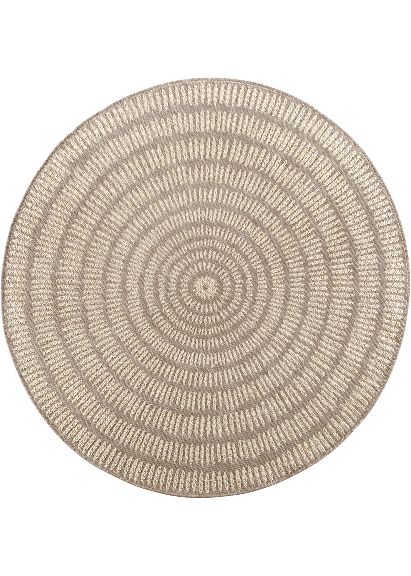 Runder In- und Outdoor Teppich Kathi