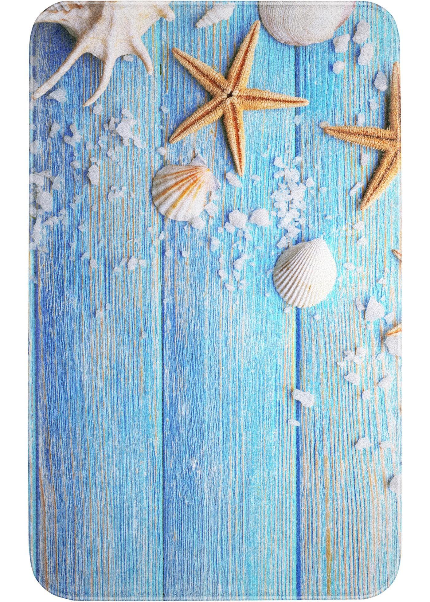 Badematte mit Memory Schaum in blau von bonprix