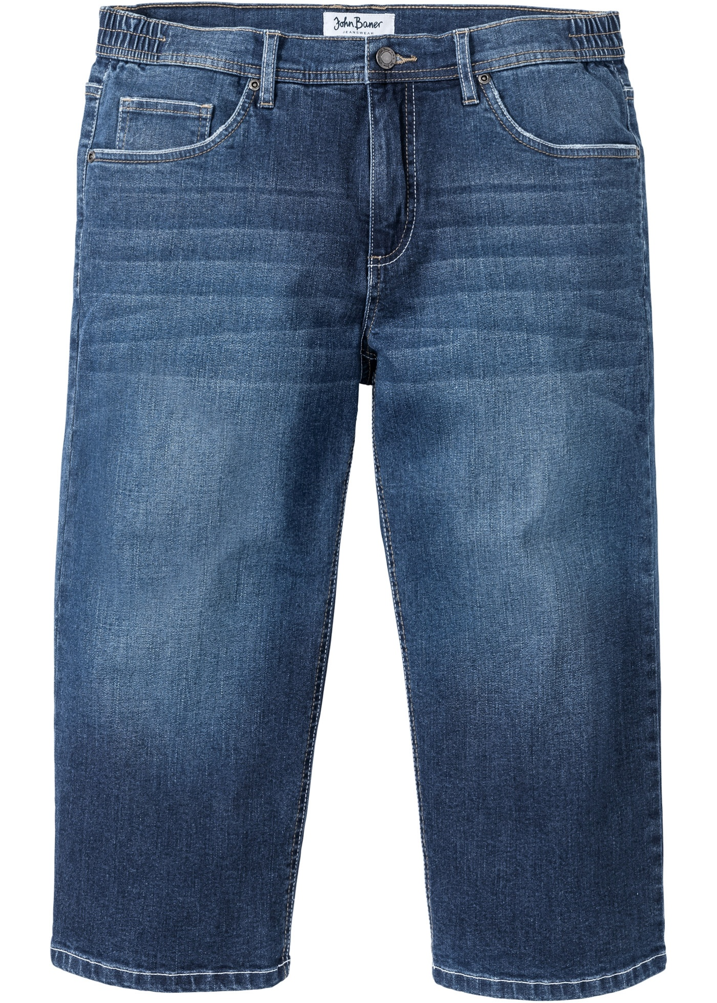 3/4 Regular Fit Komfort-Stretchjeans in blau für Herren von bonprix