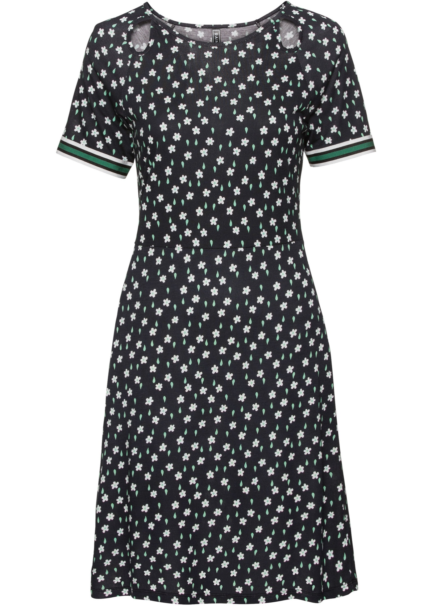 Shirtkleid kurzer Arm  in schwarz (Rundhals) für Damen von bonprix
