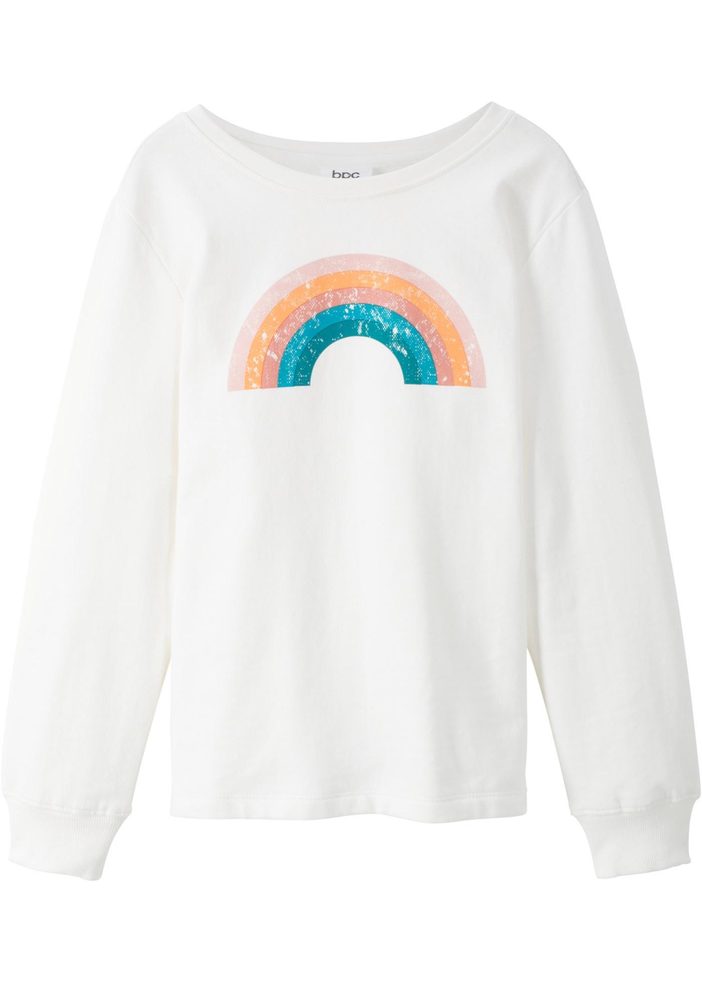 Sweatshirt mit Regenbogendruck