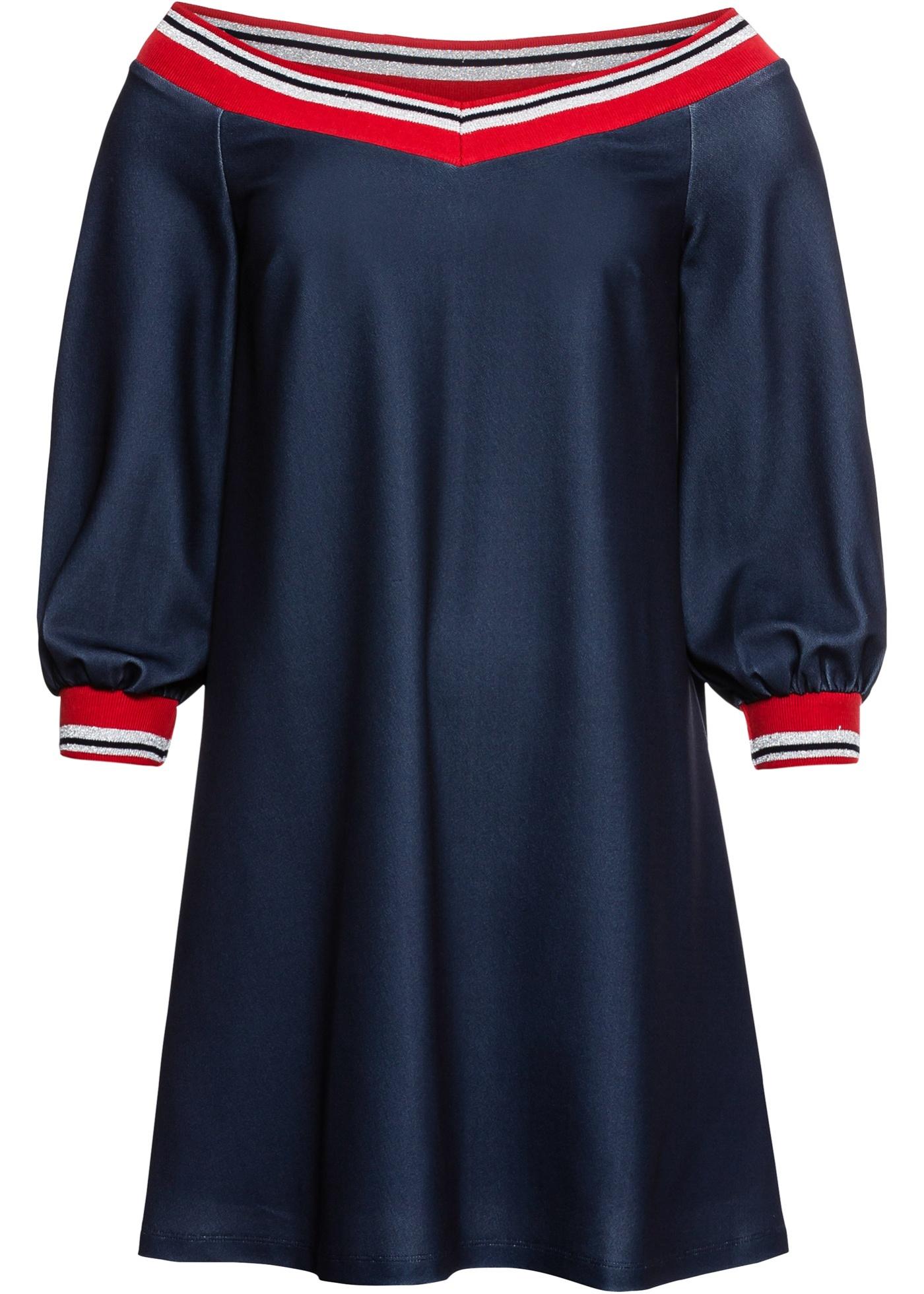 Carmen-Kleid in blau für Damen von bonprix