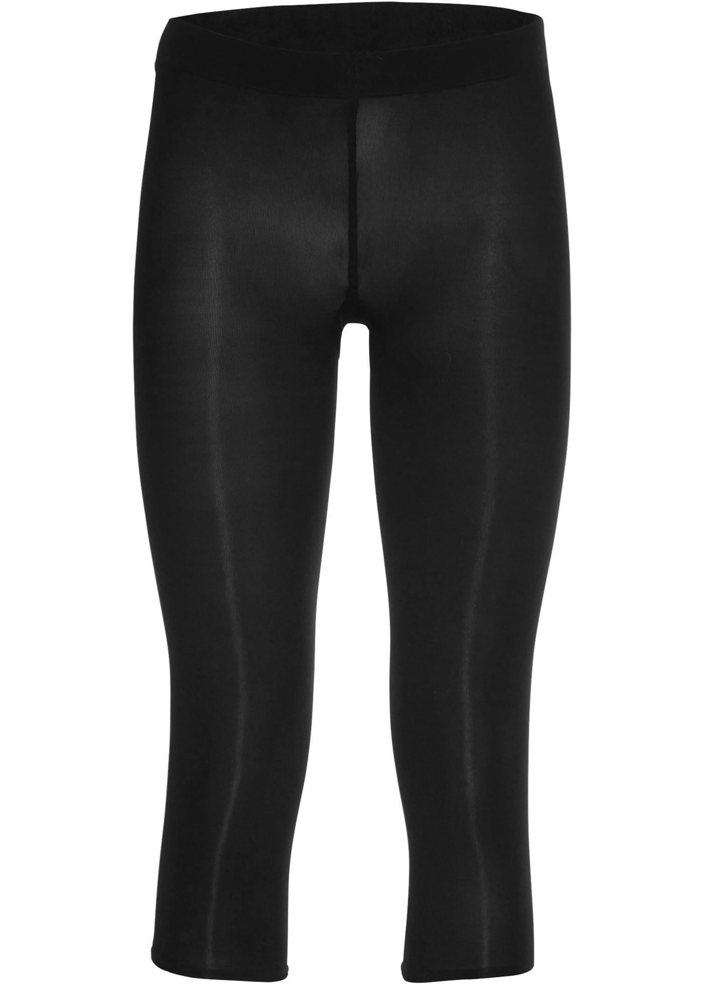 Capri Feinstrumpf-Leggings 50den in schwarz für Damen von bonprix