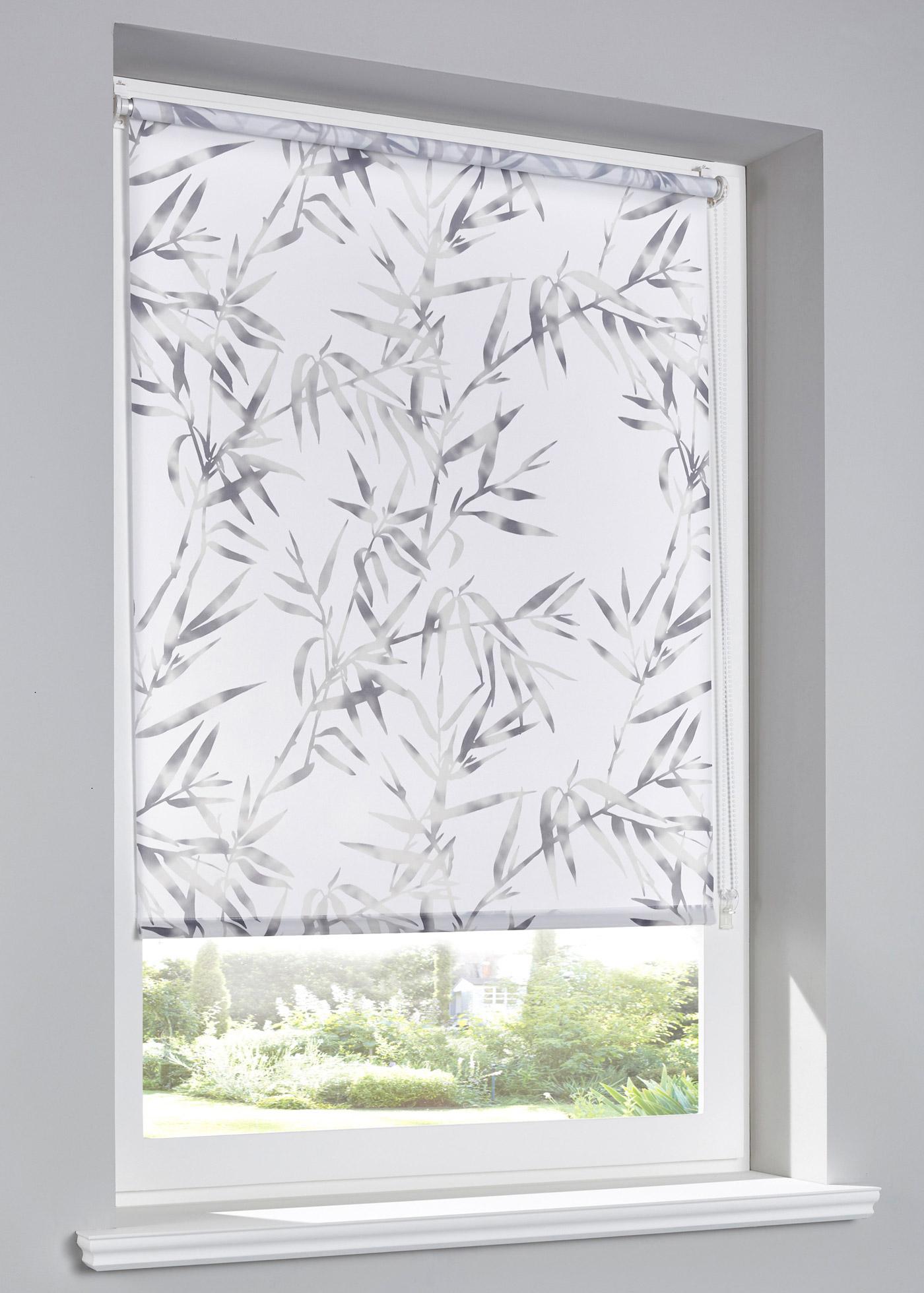 Sichtschutzrollo Bambus in weiß von bonprix