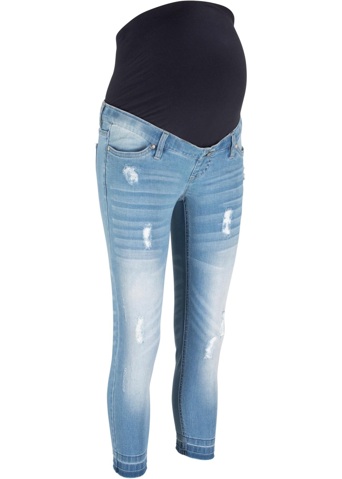 7/8-Umstandsjeans, Skinny in blau für Damen von bonprix