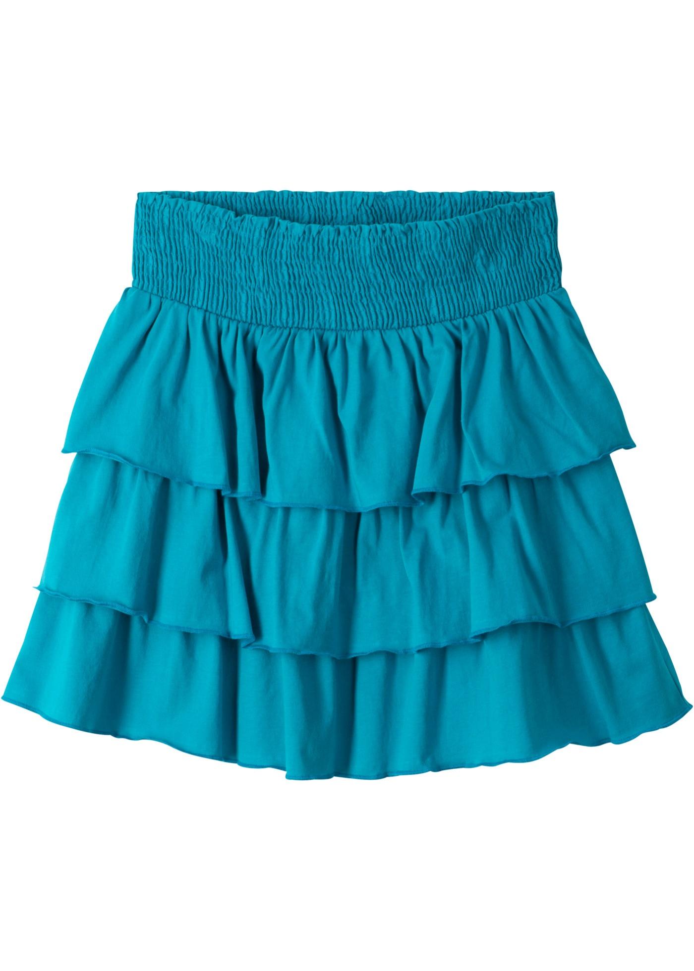 Mädchen,  Kinder bonprix Rock mit Volants blau, schwarz | 08904303026274
