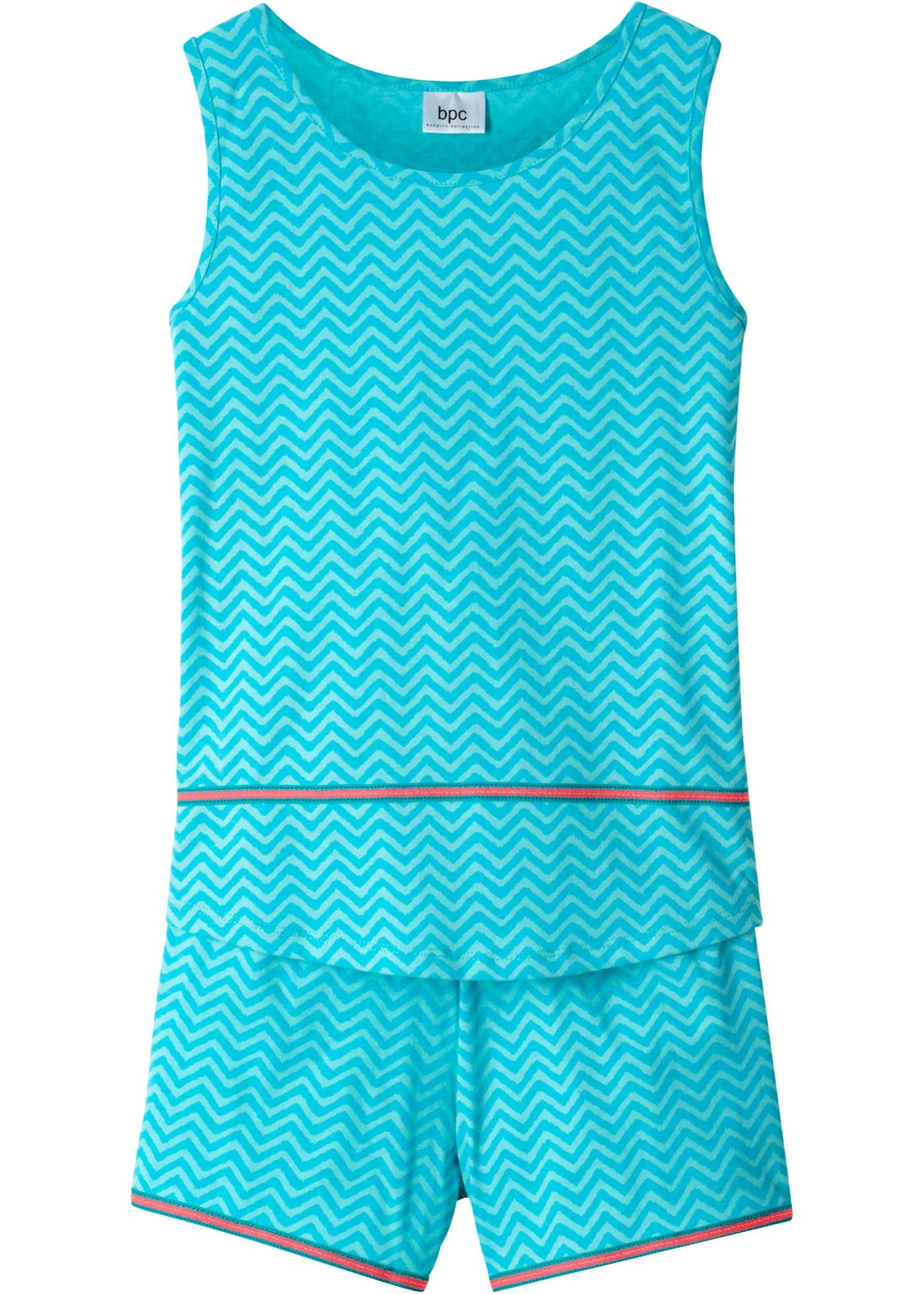 Mädchen,  Kinder bonprix Top + Shorts (2-tlg. Set) blau, rosa   08904303026441