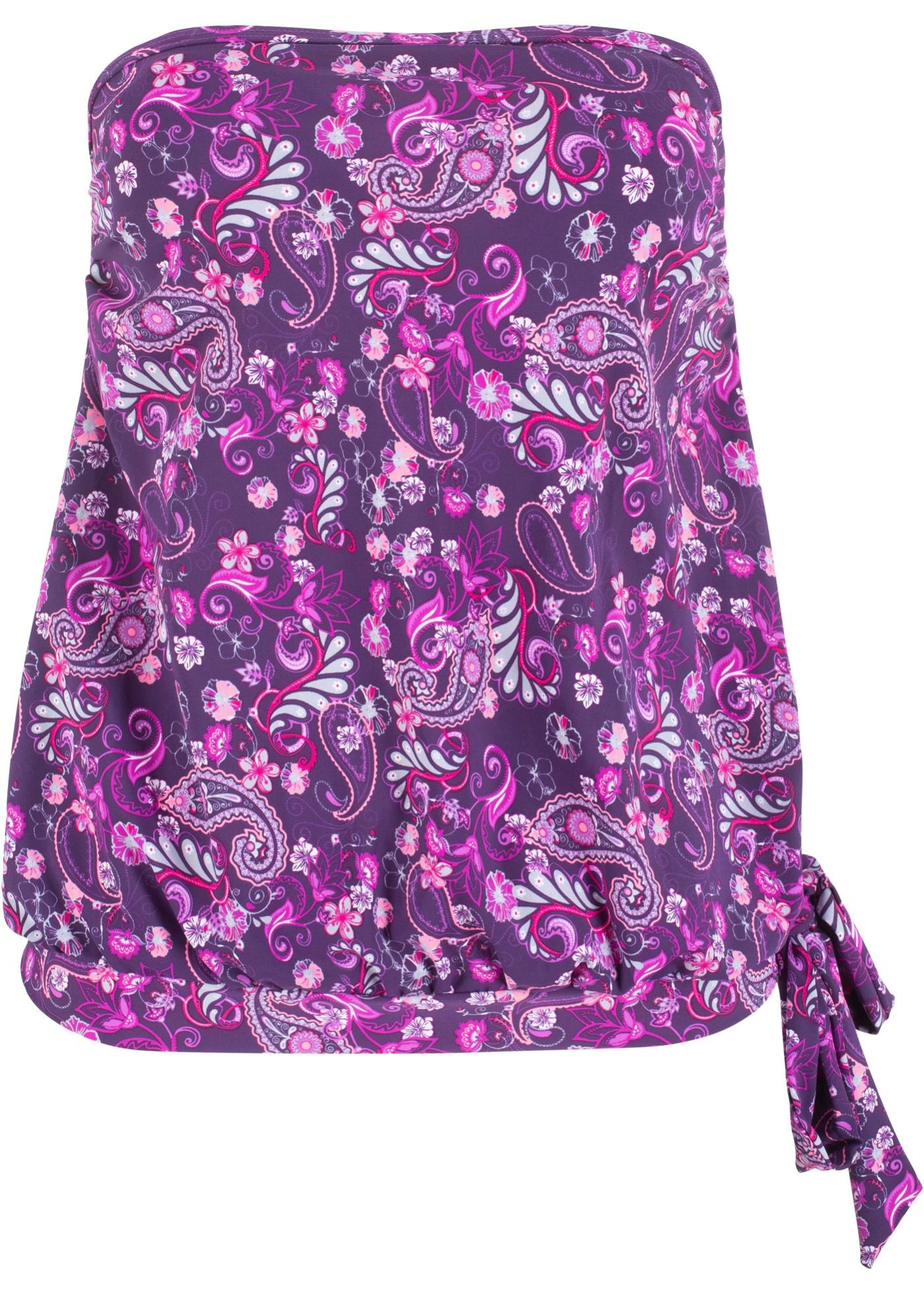 Tankini Oberteil schnelltrocknend in lila für Damen von bonprix