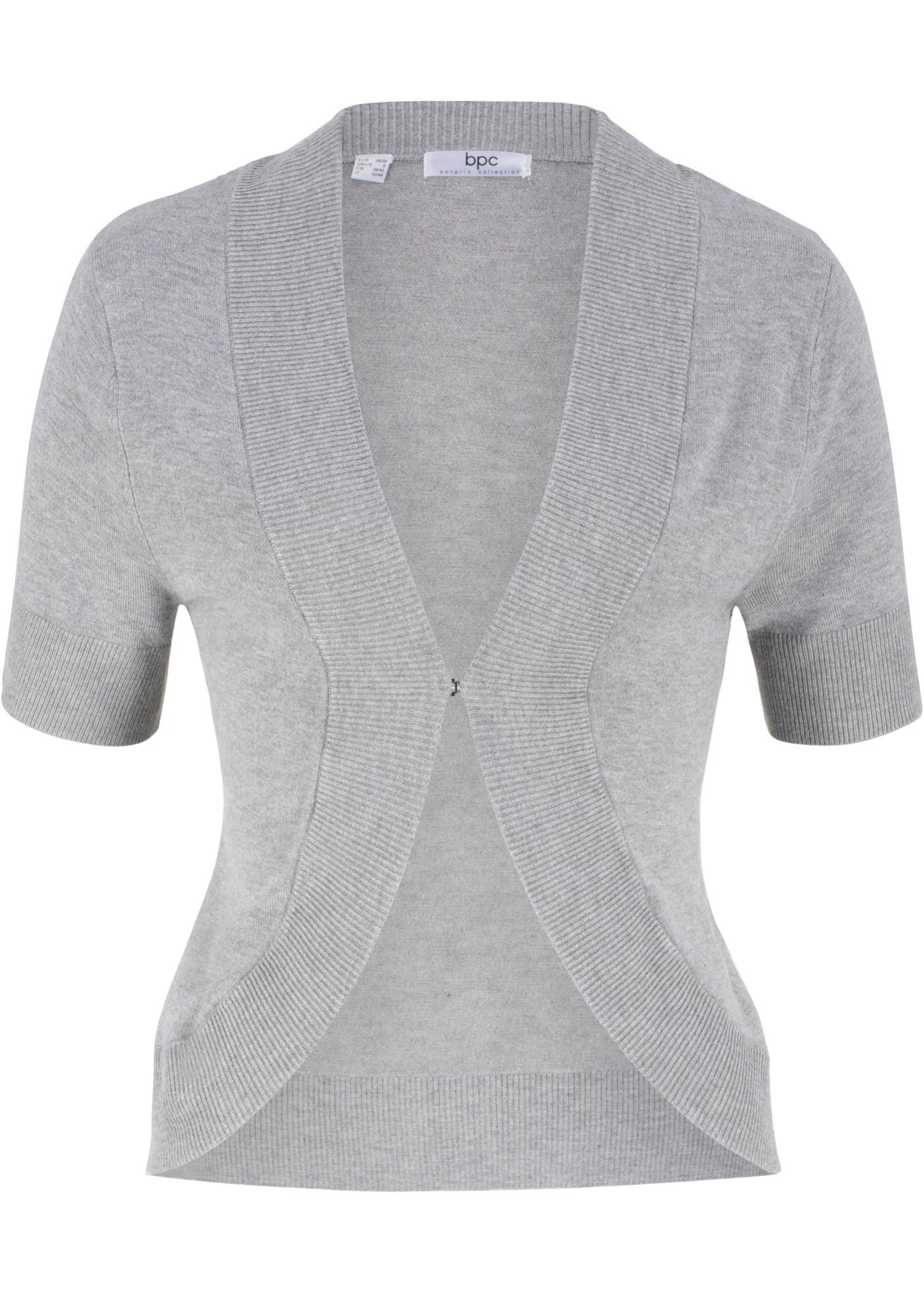 Strickbolero, Kurzarm in grau für Damen von bonprix