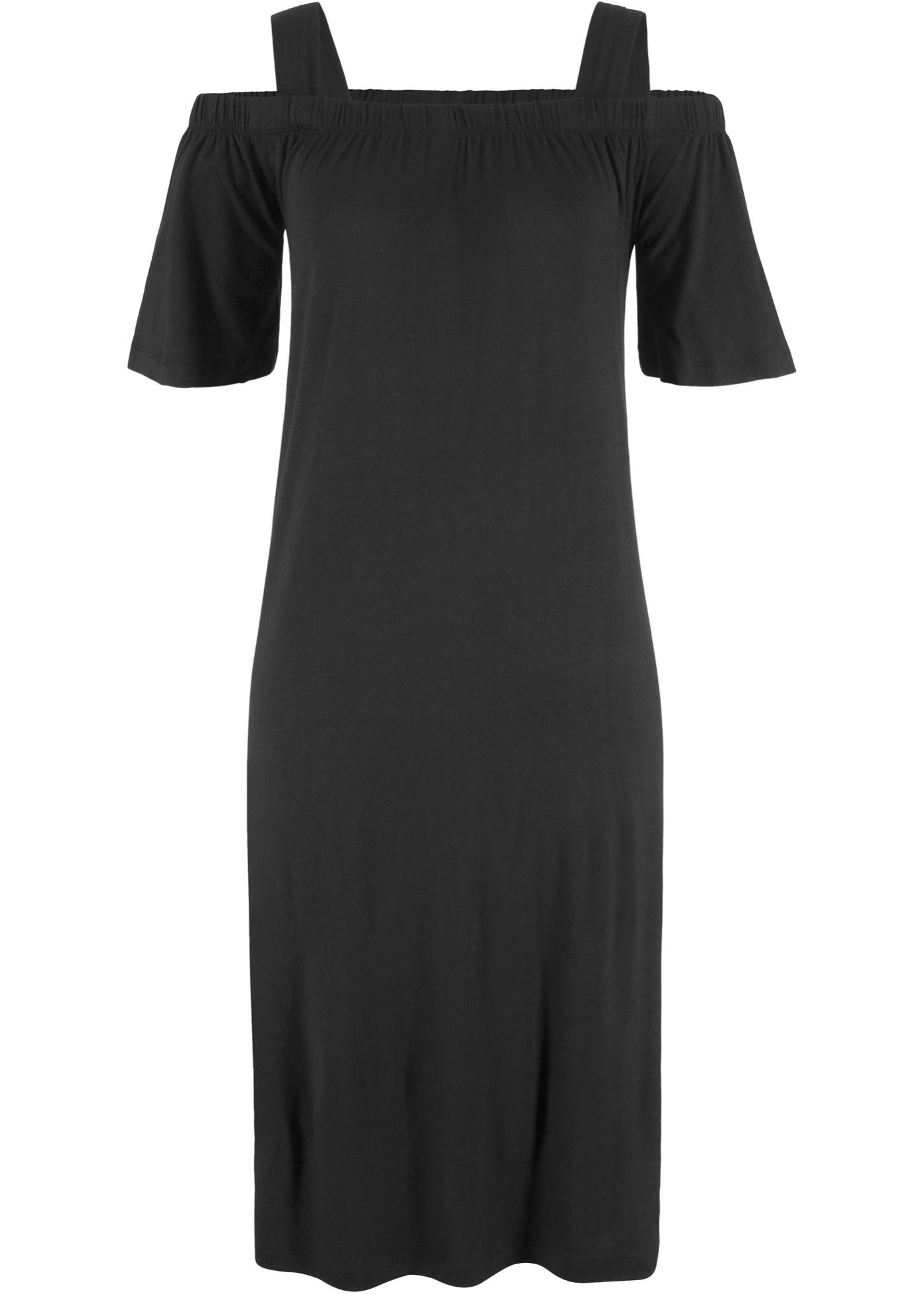 Lässiges Cold-Shoulder-Kleid mit breiten Trägern