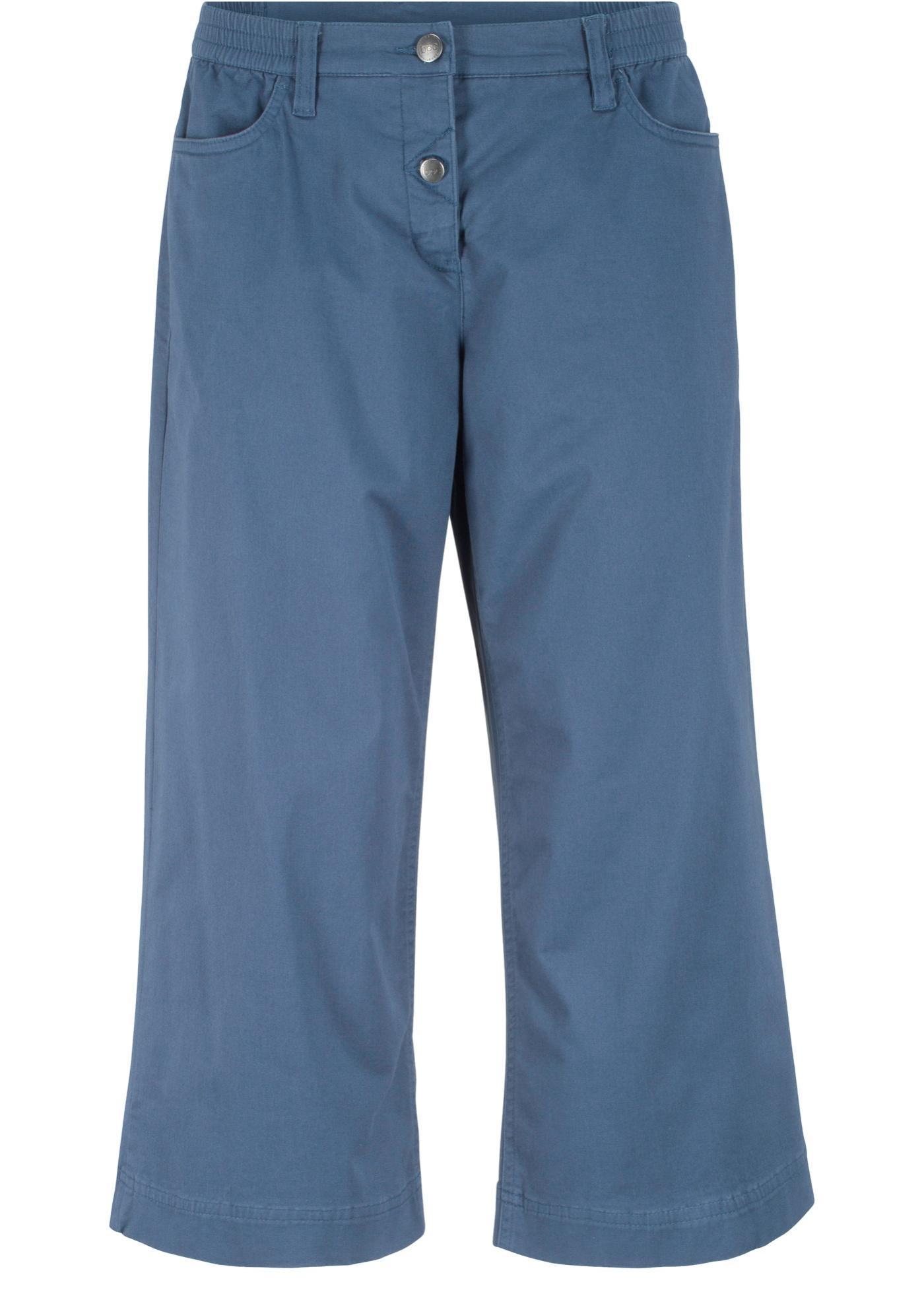 Hose mit Bequembund, extra-weit geschnitten in blau für Damen von bonprix