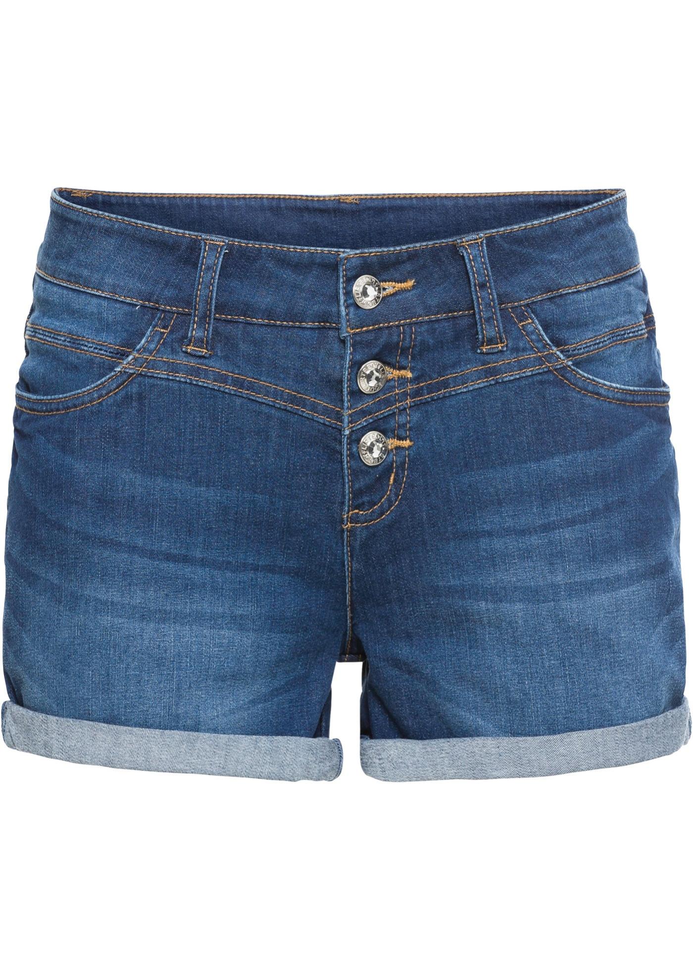 Jeans-Shorts in blau für Damen von bonprix