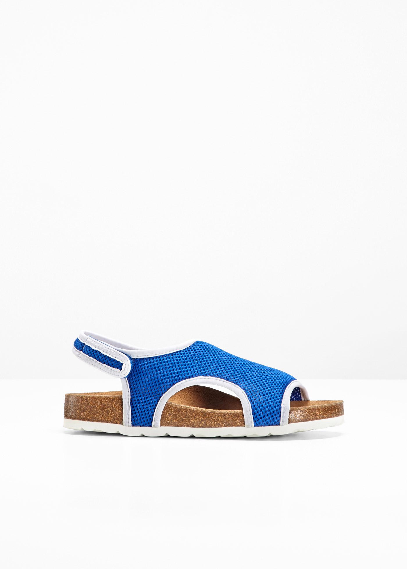 Bequeme Sandalen mit 0 cm Flach in blau von bonprix