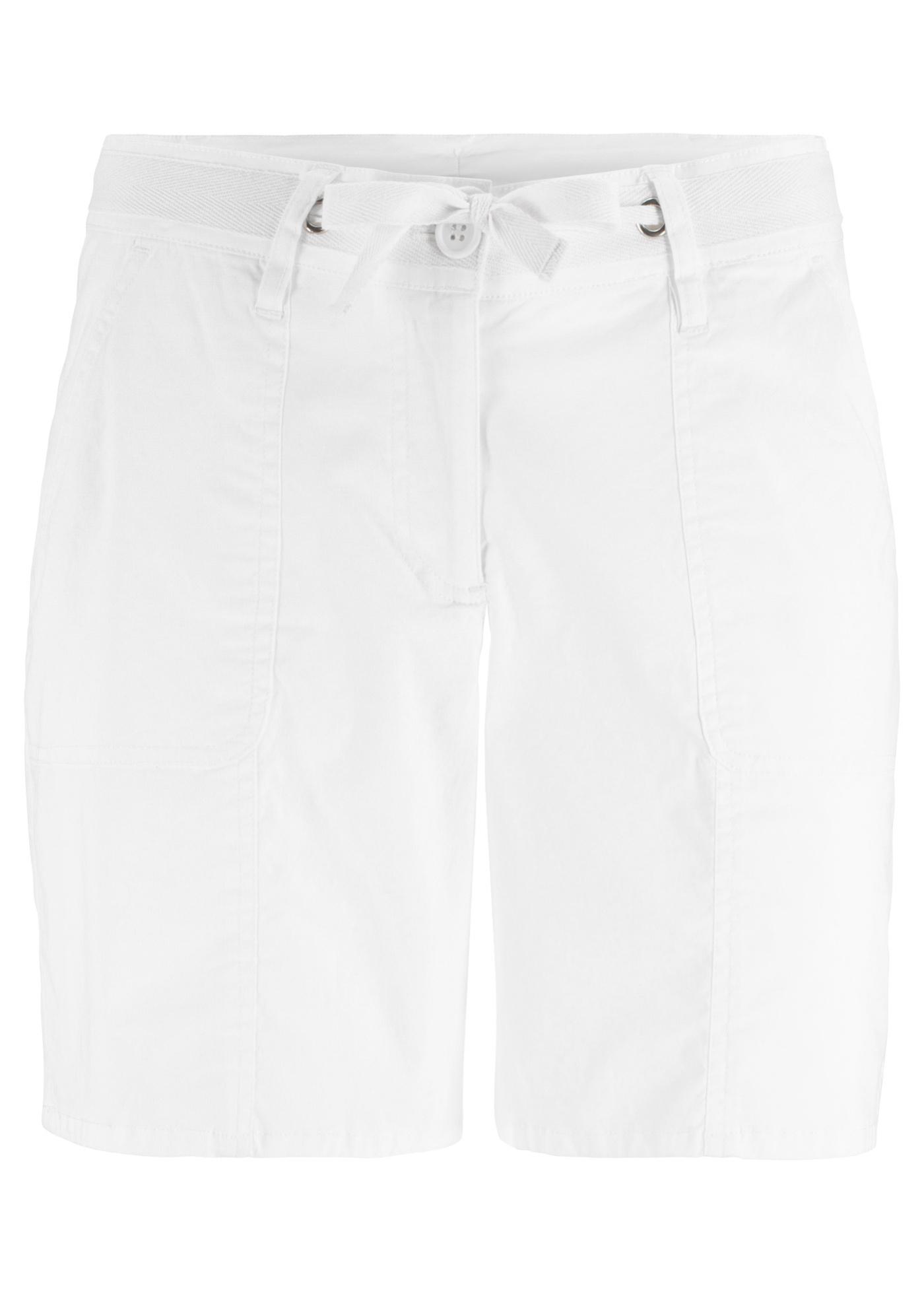 Damen bonprix Papertouch-Shorts weiß | 06927976711829, 06937436553364