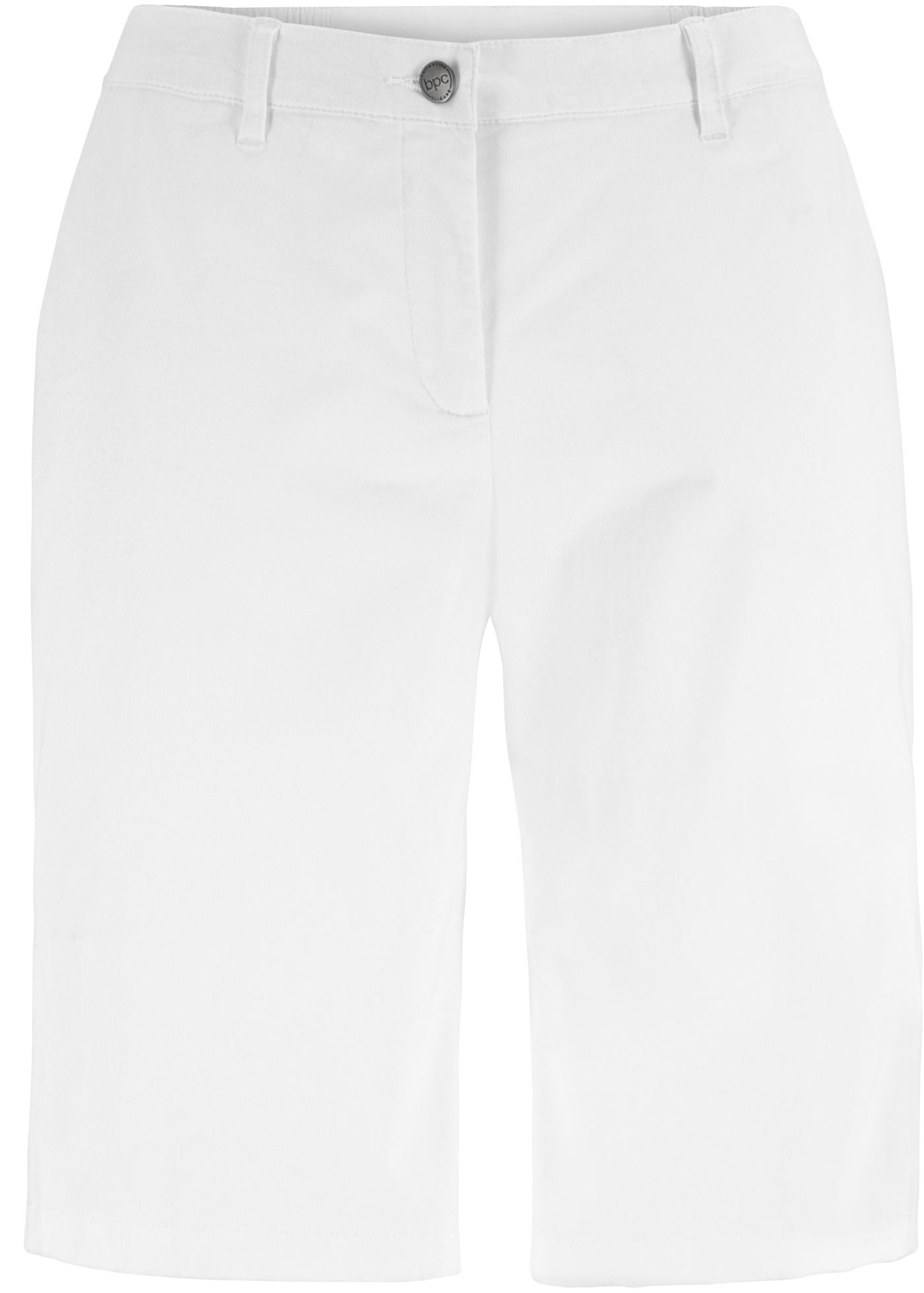 Bermuda-Short mit Komfortbund in weiß für Damen von bonprix