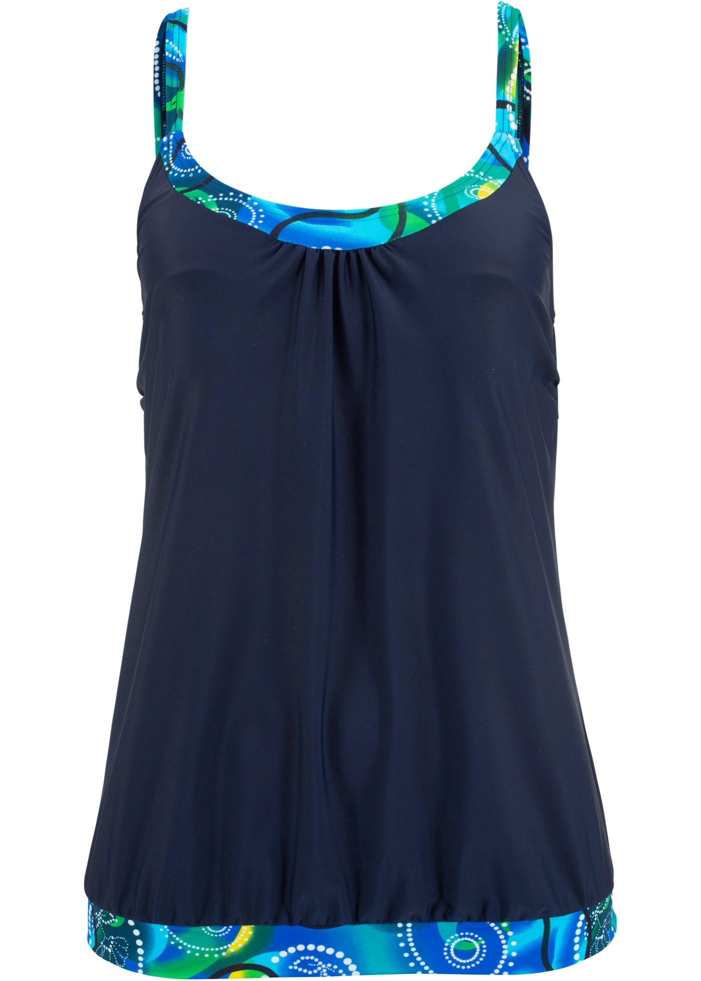 Tankini Oberteil in blau für Damen von bonprix