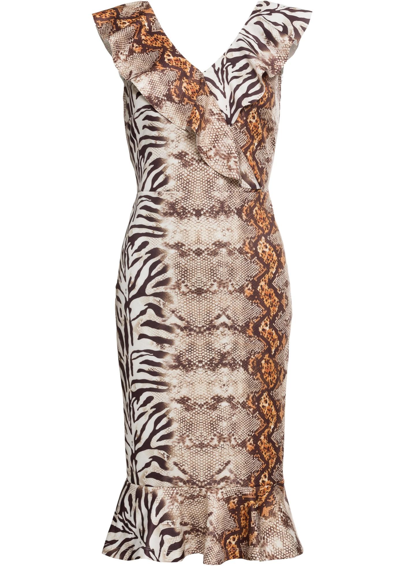 Festtagsmode - Kleid mit Volants › bonprix › schwarz  - Onlineshop Bonprix