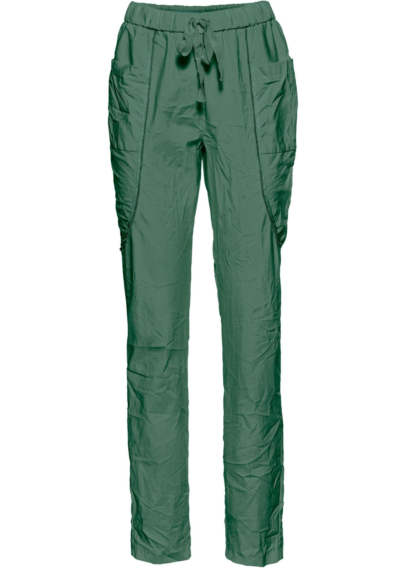 Loose-Fit-Hose in grün für Damen von bonprix