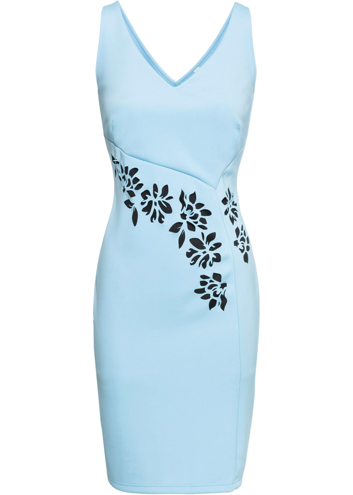 828515c45beed1 Bodyflirt Pumps BODYFLIRT boutique Kleid mit Blumen ohne Ärmel in blau für  Damen von bonprix