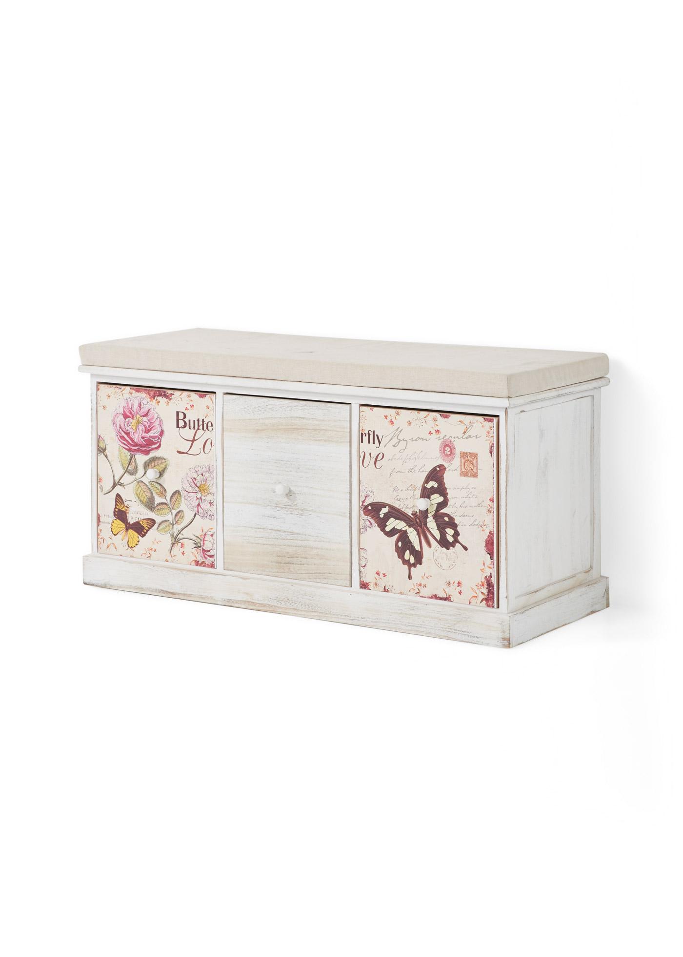 Sitzbank mit Schmetterling-Design